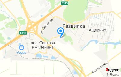 Местоположение на карте пункта техосмотра по адресу Московская обл, г Видное, тер Каширское шоссе (п совхоза им. Ленина), км 23-ий, влд 1 стр 3, пом 1