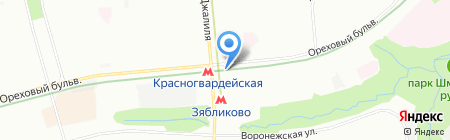 Перекресток на карте Москвы