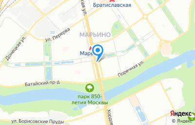 Местоположение на карте пункта техосмотра по адресу г Москва, ул Люблинская, д 171 к 1а