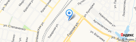 Арника на карте Донецка