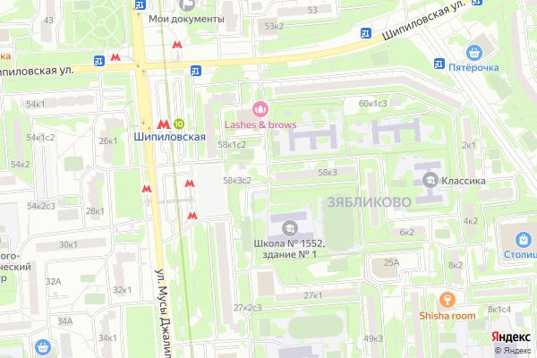 Ремонт телевизоров Район Зябликово на яндекс карте