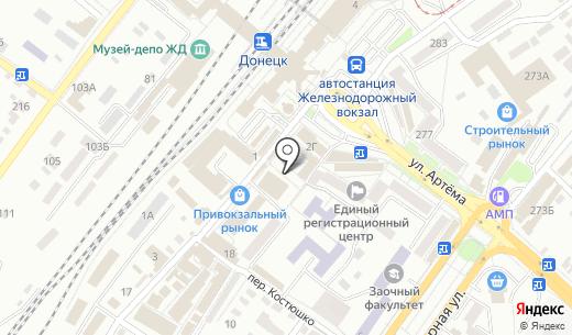 Комод. Схема проезда в Донецке