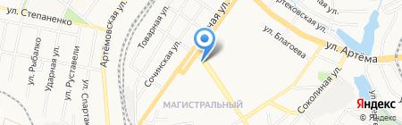 Джем на карте Донецка