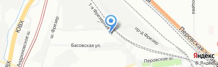 Спортоново на карте Москвы