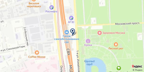 Партизан на карте Москве