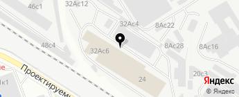 Магазин-склад автозапчастей на карте Москвы