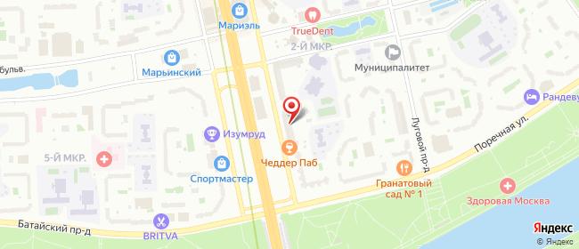 Карта расположения пункта доставки 220 вольт в городе Москва