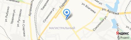 Магазин цветов на ул. Куйбышева на карте Донецка