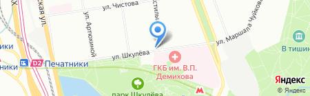 Армпресс на карте Москвы