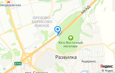 Местоположение на карте пункта техосмотра по адресу Московская обл, г Видное, п Развилка, км МКАД 22