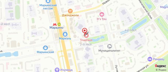 Карта расположения пункта доставки Москва Марьинский в городе Москва