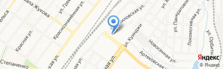Хлебушек на карте Донецка
