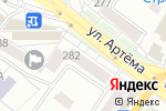 Схема проезда до компании Альфа-Мебель в Донецке