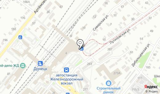 Киоск по продаже фастфудной продукции. Схема проезда в Донецке