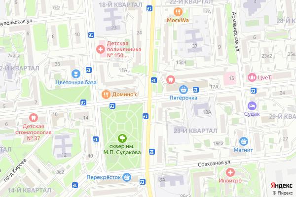 Ремонт телевизоров Улица Судакова на яндекс карте