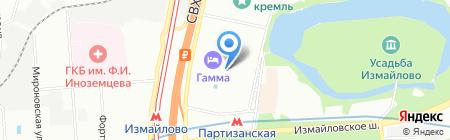 Билетная касса на Измайловском шоссе на карте Москвы