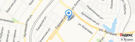 Банкомат Райффайзен Банк Аваль ПАО на карте Донецка