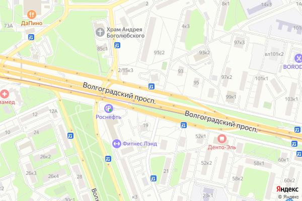 Ремонт телевизоров Волгоградский проспект на яндекс карте