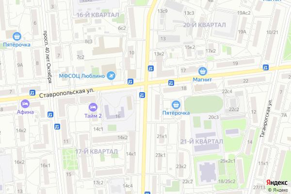 Ремонт телевизоров Улица Краснодонская на яндекс карте