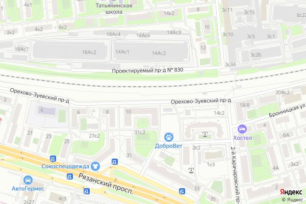 Ремонт телевизоров Орехово Зуевский проезд на яндекс карте