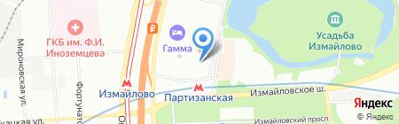 Альфа-тур транс на карте Москвы