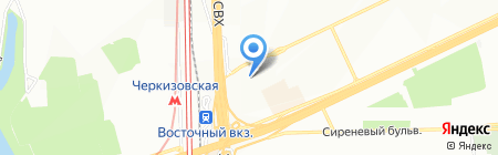 Ланга СП на карте Москвы