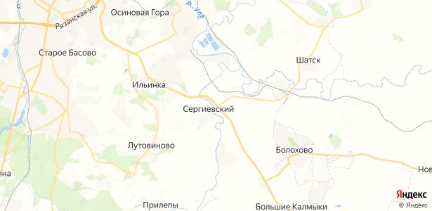 Сергиевское на карте