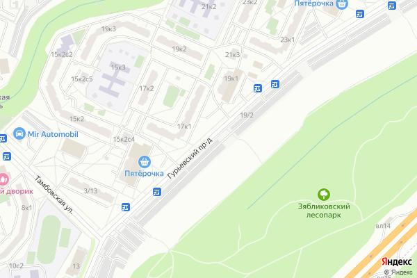 Ремонт телевизоров Гурьевский проезд на яндекс карте