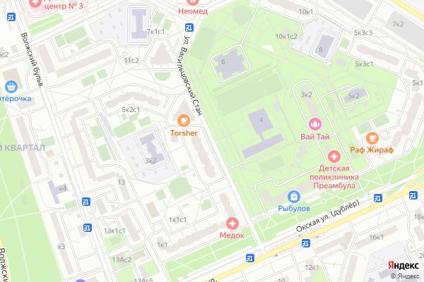 Ремонт телевизоров Улица Васильцовский Стан на яндекс карте