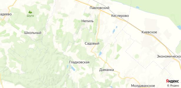 Садовый на карте