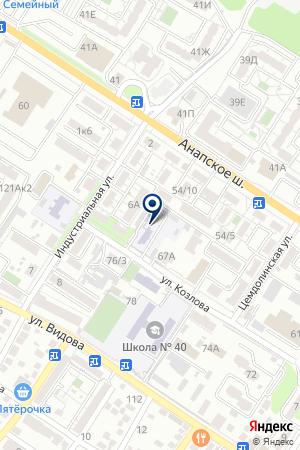 ХЛЕБОКОМБИНАТ НОВОРОСХЛЕБКОНДИТЕР на карте Новороссийска