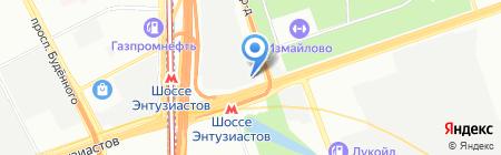 Индиго на карте Москвы