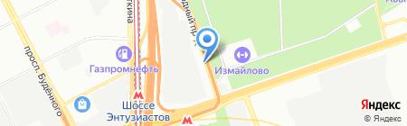 Комплексный сервис на карте Москвы