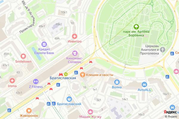 Ремонт телевизоров Улица Перерва на яндекс карте