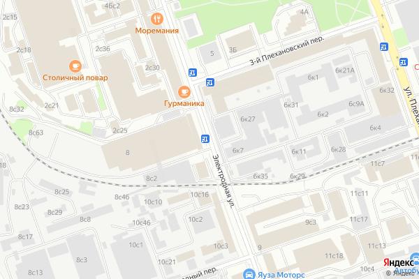 Ремонт телевизоров Улица Электродная на яндекс карте