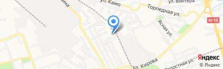 Юнитек на карте Донецка