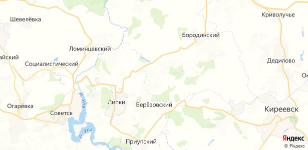 Гвардейский на карте