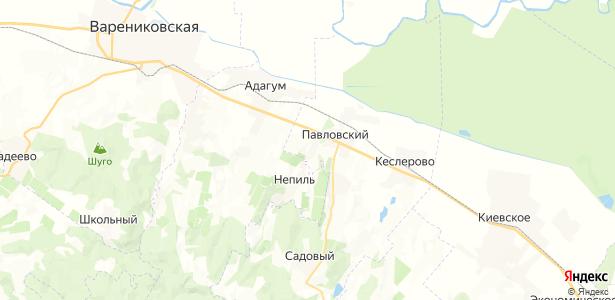 Анапский на карте