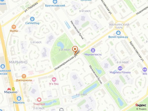 Остановка 3-й мкр. Марьинского Парка в Москве
