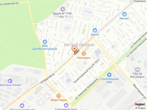 Остановка «Поликлиника», Открытое шоссе (3946) (Москва)