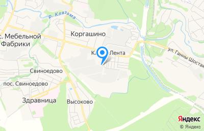 Местоположение на карте пункта техосмотра по адресу Московская обл, г Мытищи, п Кардо-Лента, ул Южная, д 3