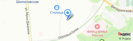 Детский сад №1696 на карте Москвы
