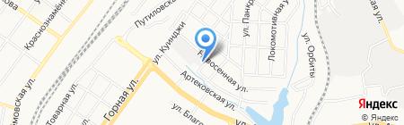 ТЕПЛОВОЗ на карте Донецка