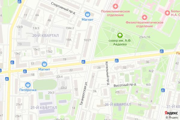 Ремонт телевизоров Улица Таганрогская на яндекс карте