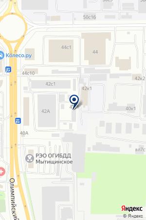 ЦТО ТЕНЗОМАШ на карте Мытищ