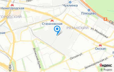 Местоположение на карте пункта техосмотра по адресу г Москва, ул Стахановская, д 6 стр 5