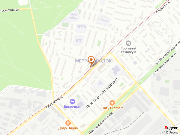Остановка «Поликлиника», Открытое шоссе (3924) (Москва)