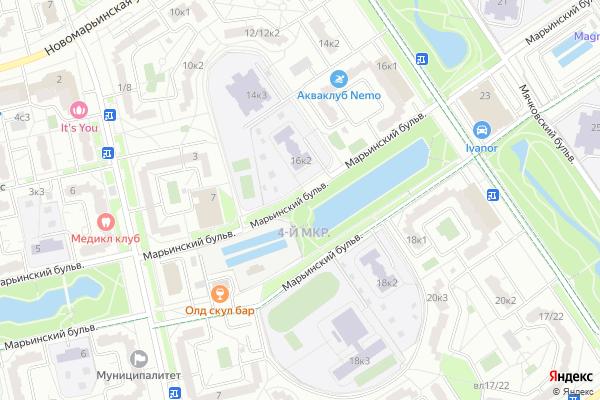 Ремонт телевизоров Марьинский бульвар на яндекс карте