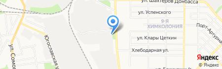 Альтком на карте Донецка