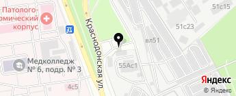 АЗС на карте Москвы